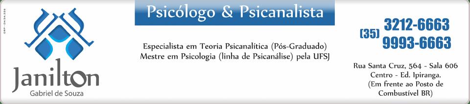 Janilton Psicólogo - Psicólogo e Psicanalista Varginha