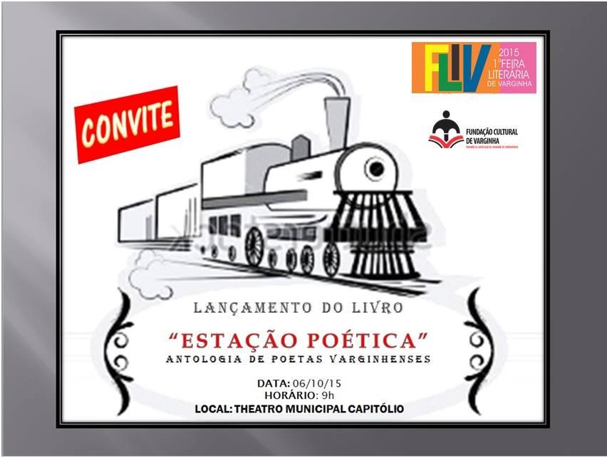 Convite de Lançamento do Livro Estação Poética